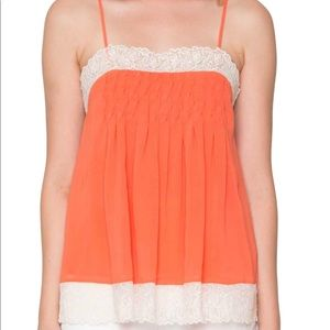 Willow & Clay Orange Paradise Tank Size Small